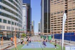 Campo del tenis en Cinco de Mayo Festival famoso fotografía de archivo