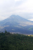 Campo del volcán inactivo y de lava Foto de archivo libre de regalías
