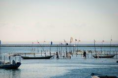 Campo dell'azienda agricola delle alghe in Indonesia Immagine Stock Libera da Diritti