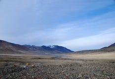 Campo dell'isola Ellesmere Fotografie Stock