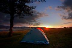 Campo della tenda Fotografia Stock Libera da Diritti