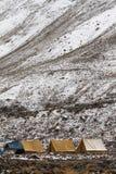 Campo della tenda in valle di Rumbak in Ladakh Fotografia Stock Libera da Diritti