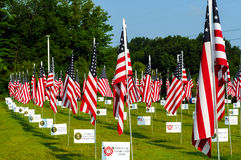 Campo delle bandiere Fotografie Stock Libere da Diritti