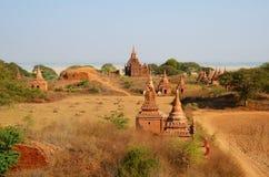 Campo delle tempie antiche in Bagan Fotografia Stock