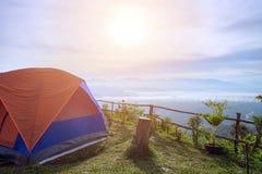 Campo delle tende di giro Fotografie Stock