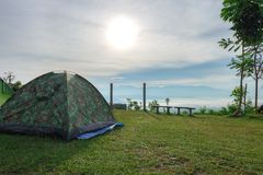 Campo delle tende di giro Fotografia Stock Libera da Diritti