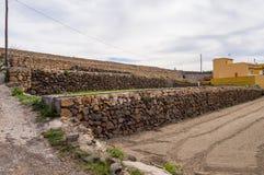 Campo di agricoltura in scale l'isola Fotografia Stock