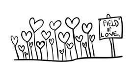 Campo di amore immagini stock