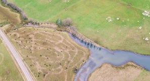 Campo di azienda agricola in Tasmania, Australia Immagini Stock Libere da Diritti