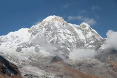 Campo di base di Annapurna nepal Immagine Stock