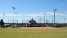Campo di baseball del parco di Pringles, Jackson, Tennessee Fotografie Stock