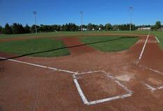 Campo di baseball grandangolare immagine stock