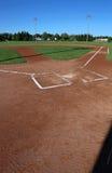 Campo di baseball verticale immagini stock