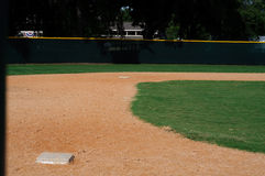Campo di baseball vuoto Fotografia Stock Libera da Diritti