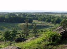 Campo di battaglia di Gettysburg da poca cima rotonda immagine stock