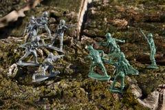 Campo di battaglia di legno Fotografia Stock