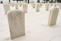 Campo di battaglia di marmo numerato del Little Big Horn delle lapidi delle lapidi fotografia stock libera da diritti