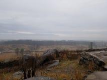 Campo di battaglia triste di Gettysburg fotografia stock