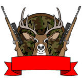 Campo di caccia dei cervi illustrazione di stock