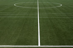 Campo di calcio Immagini Stock