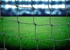 Campo di calcio Fotografie Stock