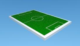 campo di calcio 3d Fotografia Stock Libera da Diritti