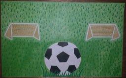 Campo di calcio immagini stock libere da diritti