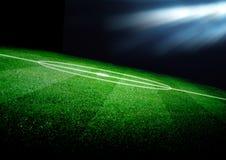 Campo di calcio Fotografie Stock Libere da Diritti
