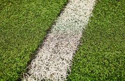 Campo di calcio artificiale verde dell'erba I precedenti verdi Immagini Stock Libere da Diritti