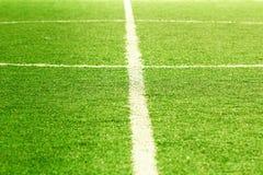 Campo di calcio, centro ed attività collaterale Fotografie Stock Libere da Diritti