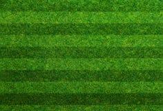 Campo di calcio dell'erba verde Fotografia Stock