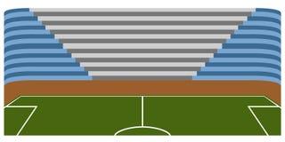 Campo di calcio dentro uno stadio Fotografia Stock Libera da Diritti