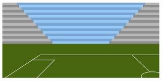 Campo di calcio dentro uno stadio Immagini Stock Libere da Diritti