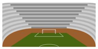 Campo di calcio dentro uno stadio Fotografia Stock