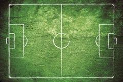 Campo di calcio di Grunge Immagine Stock Libera da Diritti