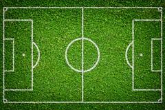 Campo di calcio naturale dell'erba verde Fotografie Stock Libere da Diritti