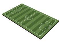 Campo di calcio su bianco Immagine Stock