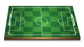 Campo di calcio verde 3d Fotografia Stock
