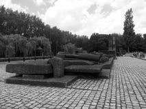 Campo di concentramento di Auschwitz immagini stock