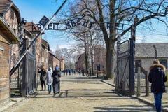 Campo di concentramento di Auschwitz-Birkenau a Oswiecim immagine stock