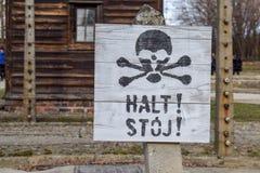 Campo di concentramento di Auschwitz-Birkenau a Oswiecim fotografie stock