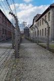 Campo di concentramento di Auschwitz-Birkenau a Oswiecim immagini stock libere da diritti