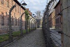 Campo di concentramento di Auschwitz-Birkenau a Oswiecim fotografia stock libera da diritti