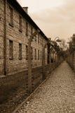 Campo di concentramento - Auschwitz-Birkenau, storia Immagini Stock
