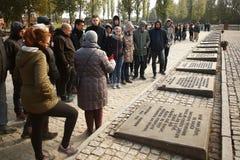 Campo di concentramento commemorativo Auschwitz Birkenau Fotografia Stock Libera da Diritti