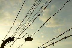 Campo di concentramento di Auschwitz-Birkenau Fotografie Stock Libere da Diritti