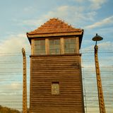 Campo di concentramento di Auschwitz-Birkenau Immagine Stock Libera da Diritti
