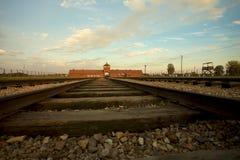 Campo di concentramento di Auschwitz-Birkenau Fotografie Stock