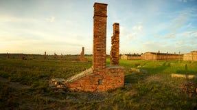 Campo di concentramento di Auschwitz-Birkenau Immagine Stock