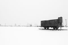 Campo di concentramento di Auschwitz II Birkenau Immagine Stock